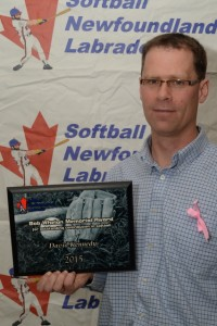 David Kennedy Softball NL 2015 Bob Whelan Memorial Award Recipient