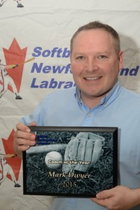 Mark Dwyer Softball NL 2015 Coach of the Year Award